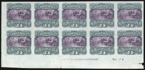 Sale Number 938, Lot Number 1218, 1869 Pictorial Issue24c Green & Violet, Plate Proof on India (120P3), 24c Green & Violet, Plate Proof on India (120P3)
