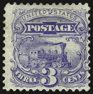 Sale Number 938, Lot Number 1239, 1875 Re-Issue of 1869 Pictorial Issue3c Blue, Re-Issue (125), 3c Blue, Re-Issue (125)