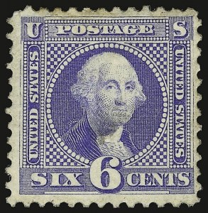 Sale Number 938, Lot Number 1241, 1875 Re-Issue of 1869 Pictorial Issue6c Blue, Re-Issue (126), 6c Blue, Re-Issue (126)