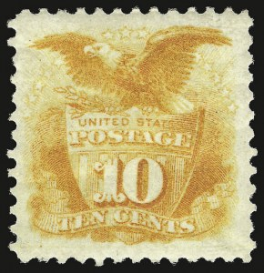 Sale Number 938, Lot Number 1244, 1875 Re-Issue of 1869 Pictorial Issue10c Yellow, Re-Issue (127), 10c Yellow, Re-Issue (127)