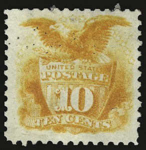 Sale Number 938, Lot Number 1246, 1875 Re-Issue of 1869 Pictorial Issue10c Yellow, Re-Issue (127), 10c Yellow, Re-Issue (127)