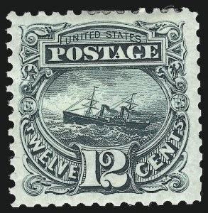 Sale Number 938, Lot Number 1248, 1875 Re-Issue of 1869 Pictorial Issue12c Green, Re-Issue (128), 12c Green, Re-Issue (128)