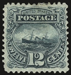 Sale Number 938, Lot Number 1249, 1875 Re-Issue of 1869 Pictorial Issue12c Green, Re-Issue (128), 12c Green, Re-Issue (128)