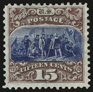 Sale Number 938, Lot Number 1254, 1875 Re-Issue of 1869 Pictorial Issue15c Brown & Blue, Re-Issue (129), 15c Brown & Blue, Re-Issue (129)