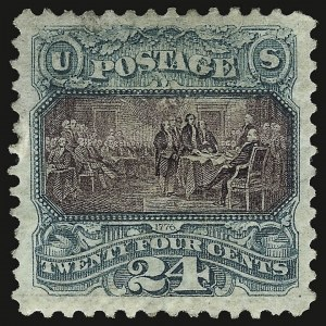 Sale Number 938, Lot Number 1255, 1875 Re-Issue of 1869 Pictorial Issue24c Green & Violet, Re-Issue (130), 24c Green & Violet, Re-Issue (130)