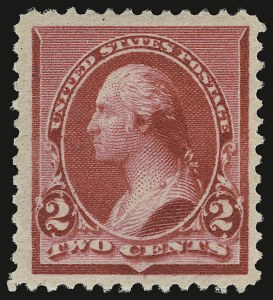 "Sale Number 938, Lot Number 1354, 1890-93 Issue2c Carmine, Cap on Both ""2""'s (220c), 2c Carmine, Cap on Both ""2""'s (220c)"
