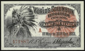 Sale Number 938, Lot Number 1363, 1893 Columbian IssueColumbian Exposition Admission Tickets, Columbian Exposition Admission Tickets