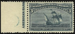 Sale Number 938, Lot Number 1366, 1893 Columbian Issue3c Columbian (232), 3c Columbian (232)