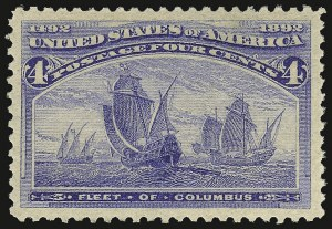 Sale Number 938, Lot Number 1370, 1893 Columbian Issue4c Columbian (233), 4c Columbian (233)