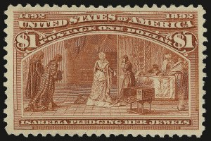 Sale Number 938, Lot Number 1386, 1893 Columbian Issue$1.00 Columbian (241), $1.00 Columbian (241)