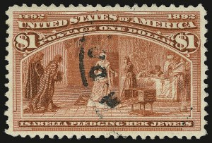 Sale Number 938, Lot Number 1392, 1893 Columbian Issue$1.00 Columbian (241), $1.00 Columbian (241)