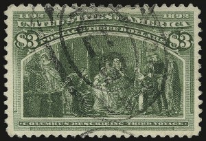 Sale Number 938, Lot Number 1399, 1893 Columbian Issue$3.00 Columbian (243), $3.00 Columbian (243)