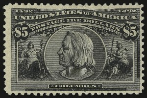 Sale Number 938, Lot Number 1404, 1893 Columbian Issue$5.00 Columbian (245), $5.00 Columbian (245)