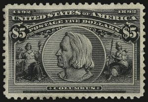 Sale Number 938, Lot Number 1405, 1893 Columbian Issue$5.00 Columbian (245), $5.00 Columbian (245)