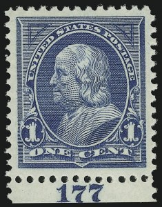 Sale Number 938, Lot Number 1427, 1894-98 Bureau Issues1c Blue (264), 1c Blue (264)