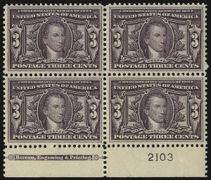 Sale Number 938, Lot Number 1524, Louisiana Purchase, Jamestown Issues3c Louisiana Purchase (325), 3c Louisiana Purchase (325)