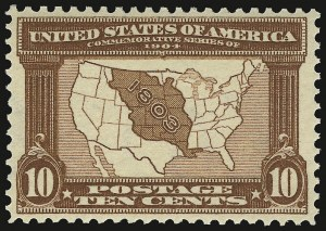 Sale Number 938, Lot Number 1526, Louisiana Purchase, Jamestown Issues10c Louisiana Purchase (327), 10c Louisiana Purchase (327)