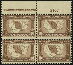 Sale Number 938, Lot Number 1527, Louisiana Purchase, Jamestown Issues10c Louisiana Purchase (327), 10c Louisiana Purchase (327)