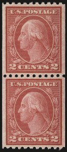 Sale Number 938, Lot Number 1662, 1912-23 Issues (Scott 486 to 519)2c Carmine, Ty. II, Coil (487), 2c Carmine, Ty. II, Coil (487)
