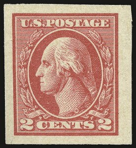 Sale Number 938, Lot Number 1704, 1912-23 Issues (Scott 523 to 550)2c Carmine, Ty. V, Imperforate (533), 2c Carmine, Ty. V, Imperforate (533)