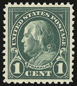 Sale Number 938, Lot Number 1725, 1922-29 and Later Issues (Scott 551 to 2866b)1c Deep Green (552), 1c Deep Green (552)
