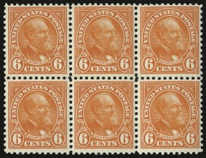 Sale Number 938, Lot Number 1728, 1922-29 and Later Issues (Scott 551 to 2866b)6c Red Orange (558), 6c Red Orange (558)