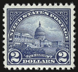 Sale Number 938, Lot Number 1741, 1922-29 and Later Issues (Scott 551 to 2866b)$2.00 Deep Blue (572), $2.00 Deep Blue (572)