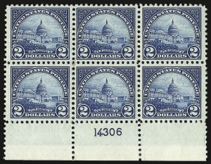 Sale Number 938, Lot Number 1742, 1922-29 and Later Issues (Scott 551 to 2866b)$2.00 Deep Blue (572), $2.00 Deep Blue (572)