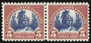 Sale Number 938, Lot Number 1745, 1922-29 and Later Issues (Scott 551 to 2866b)$5.00 Carmine & Blue (573), $5.00 Carmine & Blue (573)