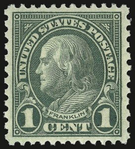 Sale Number 938, Lot Number 1746, 1922-29 and Later Issues (Scott 551 to 2866b)1c Green, Rotary (578), 1c Green, Rotary (578)