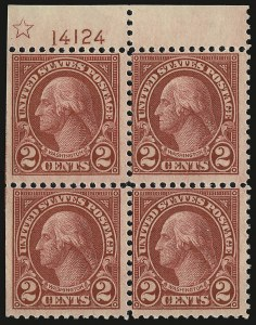Sale Number 938, Lot Number 1754, 1922-29 and Later Issues (Scott 551 to 2866b)2c Carmine, Rotary, Perf 11 (595), 2c Carmine, Rotary, Perf 11 (595)
