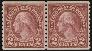 Sale Number 938, Lot Number 1756, 1922-29 and Later Issues (Scott 551 to 2866b)2c Carmine, Ty. II, Coil (599A), 2c Carmine, Ty. II, Coil (599A)