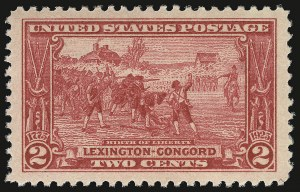 Sale Number 938, Lot Number 1759, 1922-29 and Later Issues (Scott 551 to 2866b)2c Lexington-Concord (618), 2c Lexington-Concord (618)