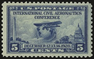 Sale Number 938, Lot Number 1771, 1922-29 and Later Issues (Scott 551 to 2866b)5c Aeronautics (650), 5c Aeronautics (650)