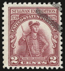 Sale Number 938, Lot Number 1772, 1922-29 and Later Issues (Scott 551 to 2866b)2c Lake, Sullivan Expedition (657a), 2c Lake, Sullivan Expedition (657a)