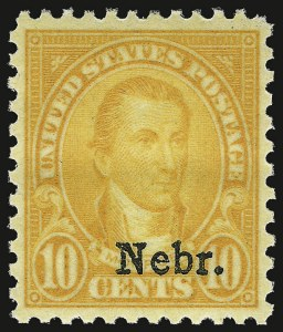 Sale Number 938, Lot Number 1785, 1922-29 and Later Issues (Scott 551 to 2866b)10c Nebr. Ovpt. (679), 10c Nebr. Ovpt. (679)