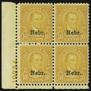 Sale Number 938, Lot Number 1787, 1922-29 and Later Issues (Scott 551 to 2866b)10c Nebr. Ovpt. (679), 10c Nebr. Ovpt. (679)