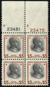 Sale Number 938, Lot Number 1791, 1922-29 and Later Issues (Scott 551 to 2866b)$2.00, $5.00 Presidential (833-834), $2.00, $5.00 Presidential (833-834)