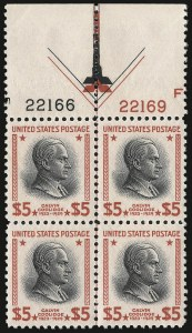 Sale Number 938, Lot Number 1792, 1922-29 and Later Issues (Scott 551 to 2866b)$5.00 Presidential (834), $5.00 Presidential (834)