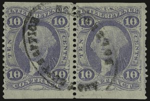 Sale Number 938, Lot Number 1931, Revenues10c Contract, Ultramarine, Part Perforated (R34eb), 10c Contract, Ultramarine, Part Perforated (R34eb)