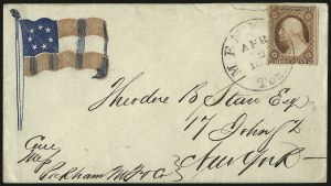 Sale Number 940, Lot Number 202, Independent State and C.S.A. Usage of U.S. StampsMemphis Ten. Apr. 5, 1861, Memphis Ten. Apr. 5, 1861
