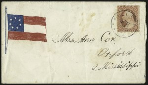 Sale Number 940, Lot Number 206, Independent State and C.S.A. Usage of U.S. StampsKnoxville Ten. 8 May 1861, Knoxville Ten. 8 May 1861