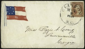 Sale Number 940, Lot Number 207, Independent State and C.S.A. Usage of U.S. StampsClinton S.C. May 9, 1861, Clinton S.C. May 9, 1861
