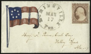 Sale Number 940, Lot Number 208, Independent State and C.S.A. Usage of U.S. StampsMcMinnville Ten. May 17 (1861), McMinnville Ten. May 17 (1861)
