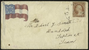 Sale Number 940, Lot Number 209, Independent State and C.S.A. Usage of U.S. StampsJackson Tenn, Jackson Tenn