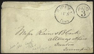 Sale Number 940, Lot Number 212, Independent State and C.S.A. Usage of U.S. StampsRipley Tenn. Jun. (blank), Ripley Tenn. Jun. (blank)