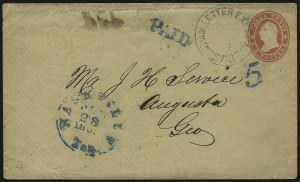 Sale Number 940, Lot Number 224, Express Mails after June 1, 1861Am. Letter Exp. Co., Louisville Ky., Am. Letter Exp. Co., Louisville Ky.