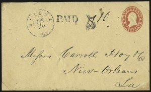 Sale Number 940, Lot Number 230, Handstamped Paid and Due MarkingsHelena Ark. Jun. 5, 1861, Helena Ark. Jun. 5, 1861
