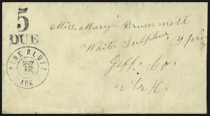 Sale Number 940, Lot Number 234, Handstamped Paid and Due MarkingsPine Bluff Ark. May 12, 1862, Pine Bluff Ark. May 12, 1862