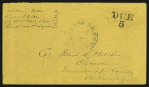 Sale Number 940, Lot Number 242, Handstamped Paid and Due MarkingsBowling Green Ky., Dec. 7, Bowling Green Ky., Dec. 7
